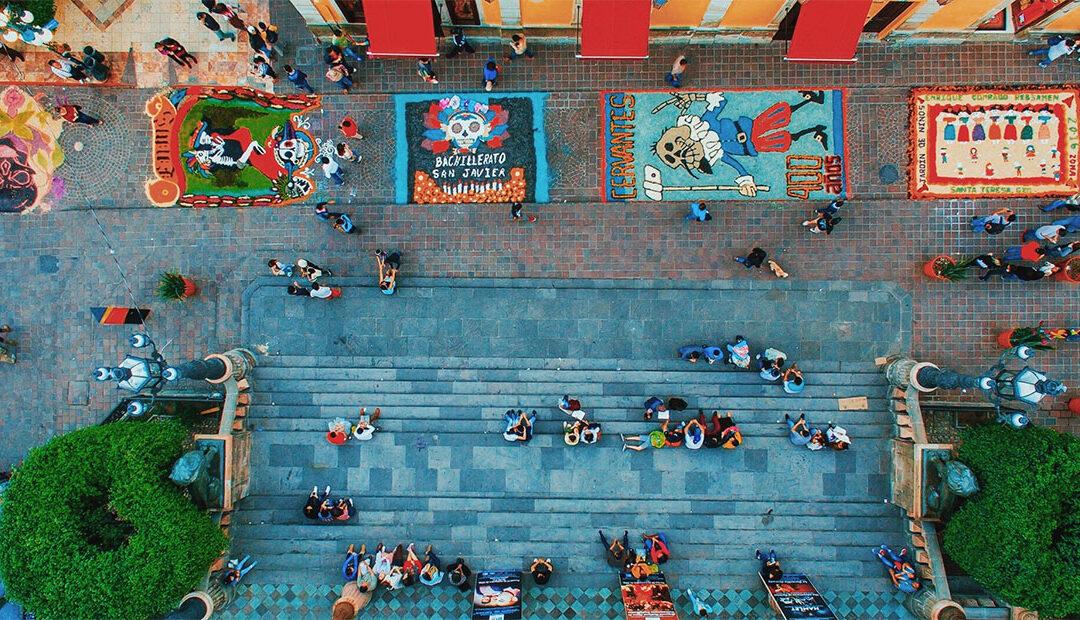 Tapetes de Día de Muert💀s adornarán las calles de Guanajuato capital 💐 🌺