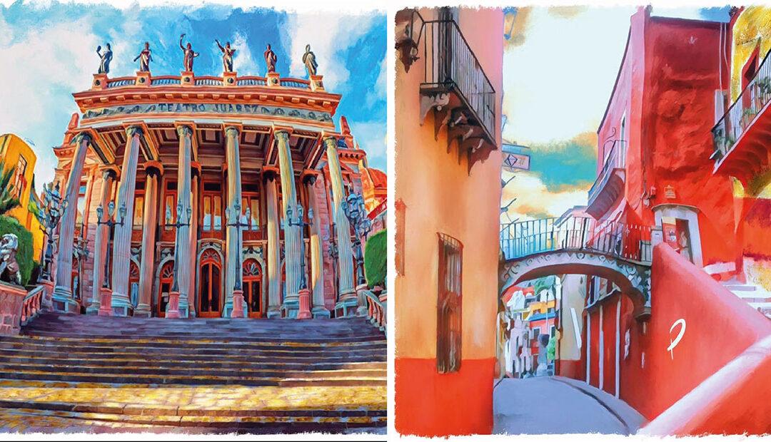 El joven artista que realiza asombrosas obras pictóricas de Guanajuato capital 🎨 🙌🏻
