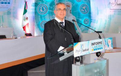 Rinde Mgdo. Presidente Héctor Tinajero Muñoz su primer Informe de Labores